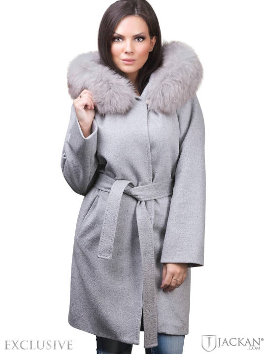Lucinda Wool Fox in grau von Hollies | Jackan.com