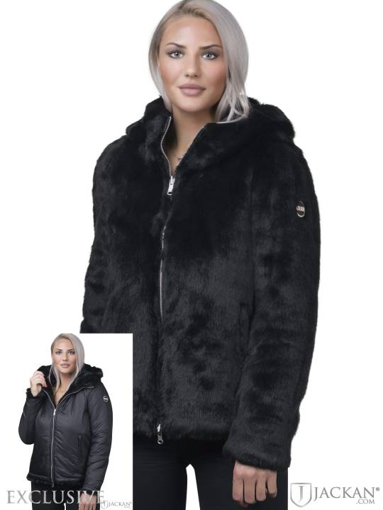 Ladies Fur Jacket AW 18 (Schwarz)