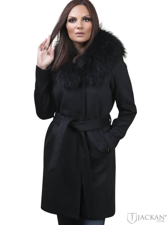 Abriana Wool Real Fur in schwarz von Rock And Blue | Jackan.com